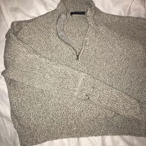 Brandy Melville quarter zip knit grey sweater